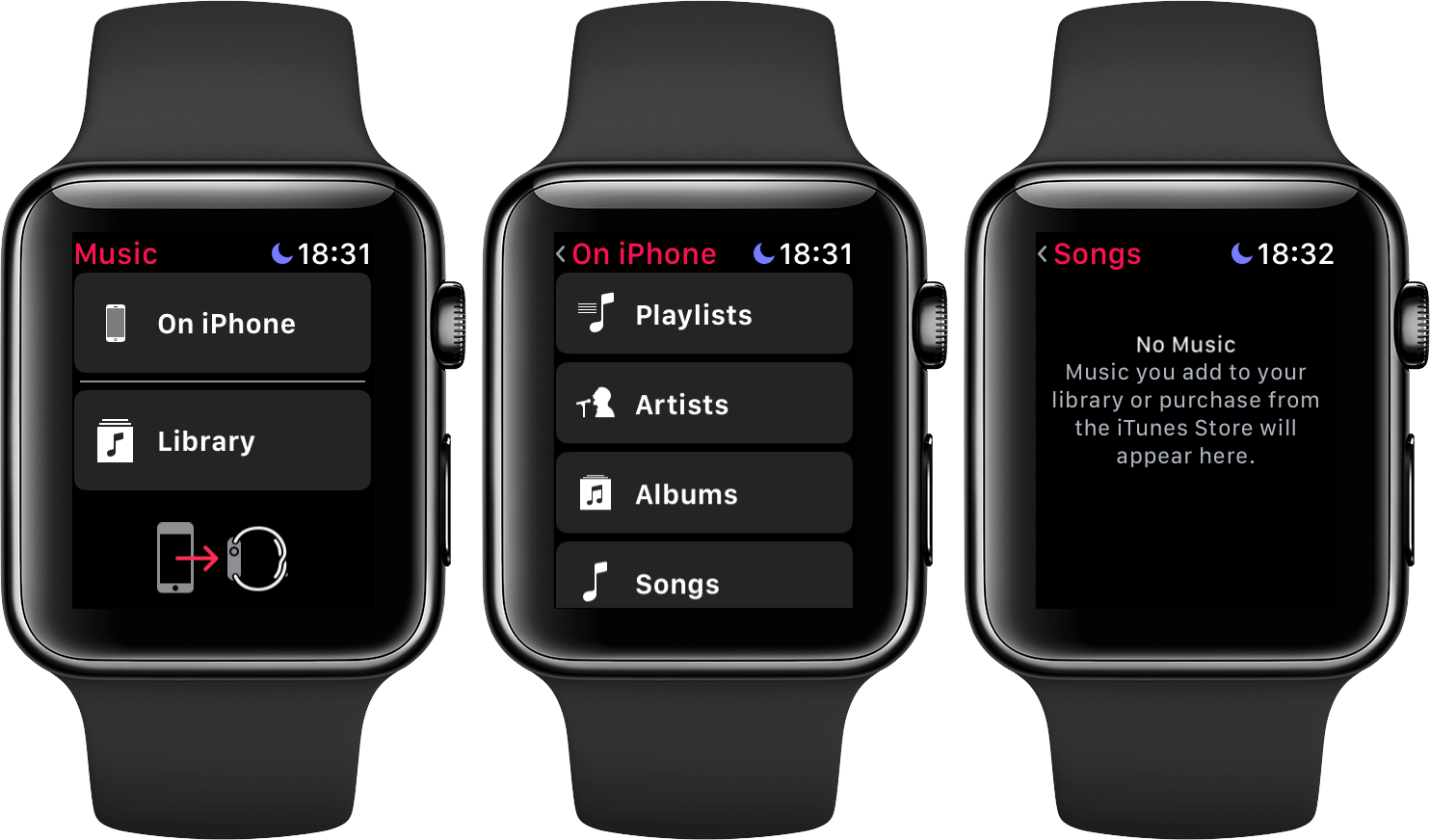 watchOS 4 3 has reinstated iPhone music library browsing