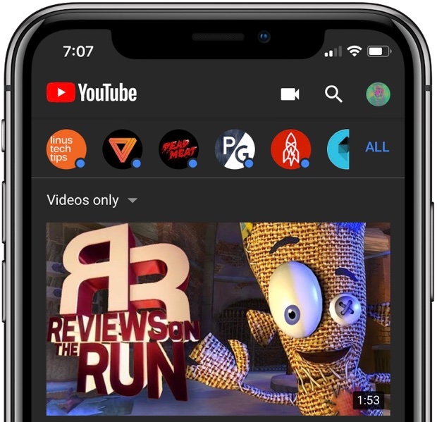 Google is bringing Dark theme to its mobile YouTube app today