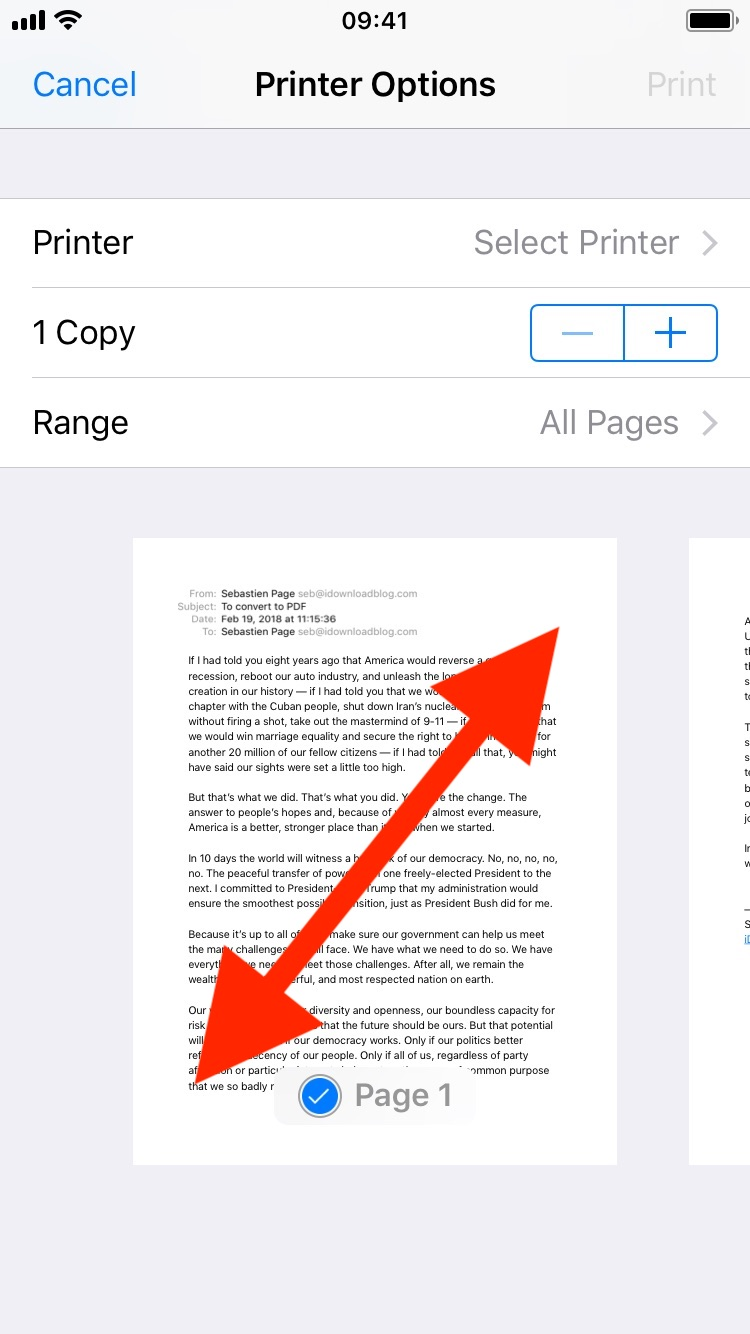 How to save an email as PDF on iPhone, iPad and Mac