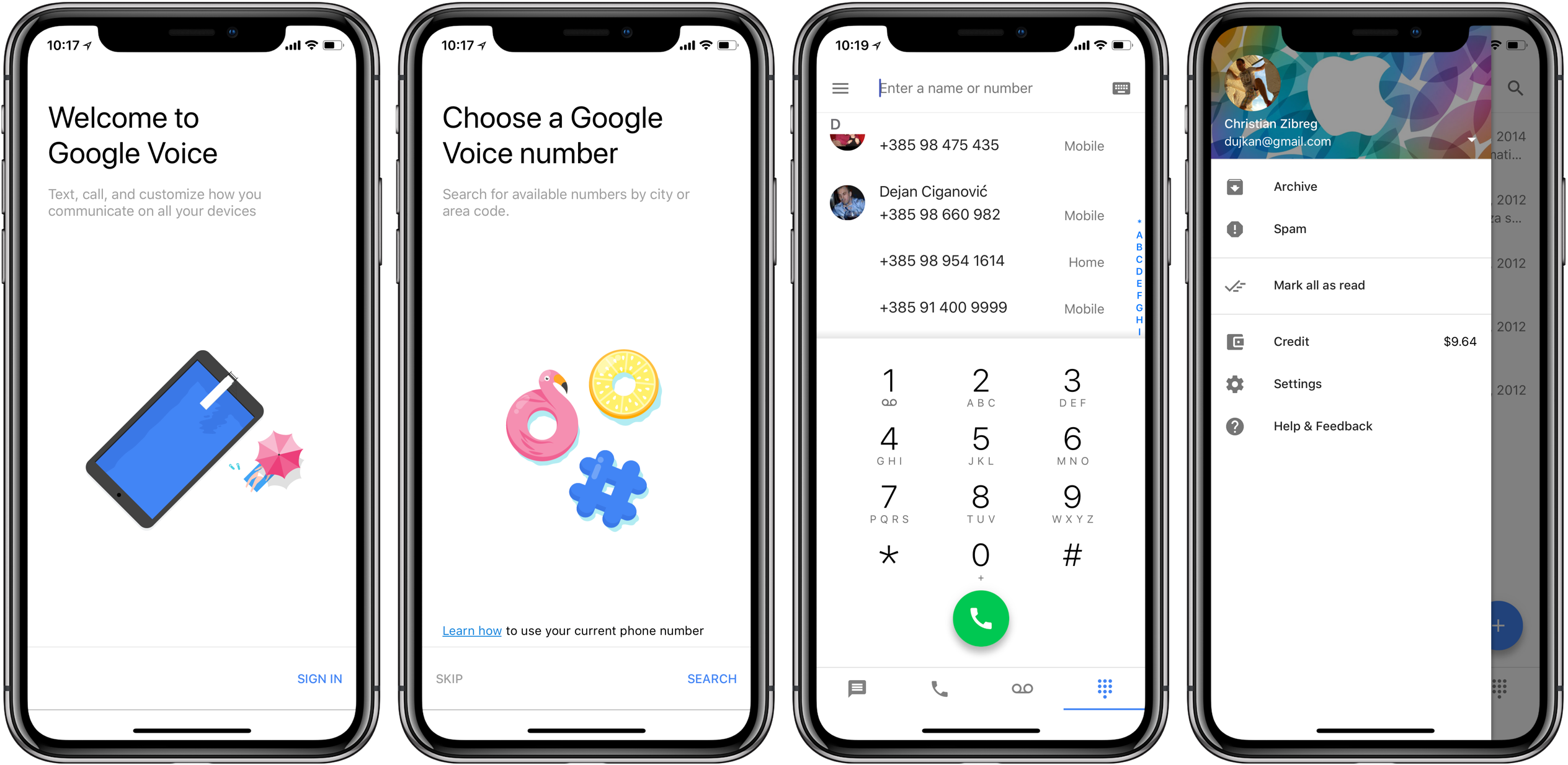 Google Voice has been optimized for iPhone X