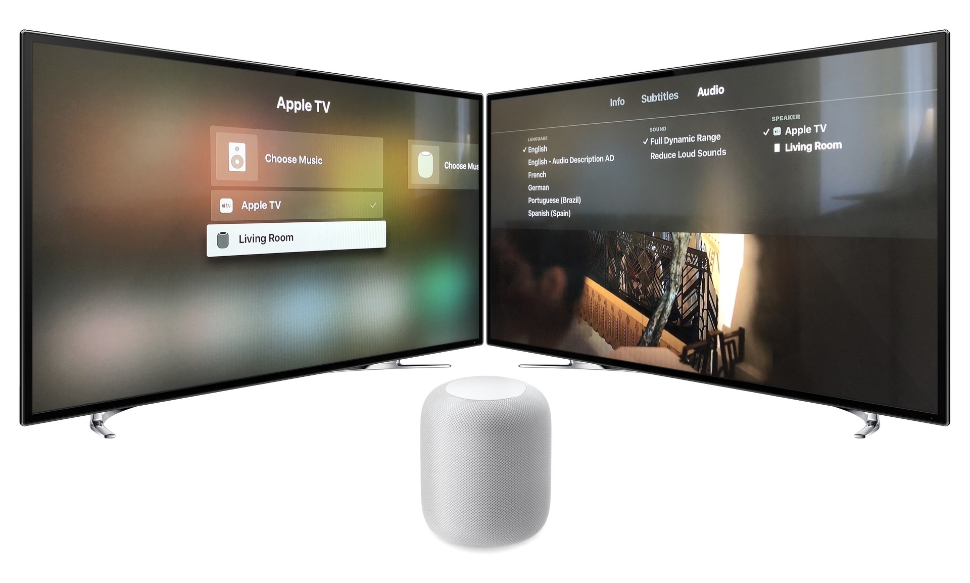 Connect HomePod with Apple TV