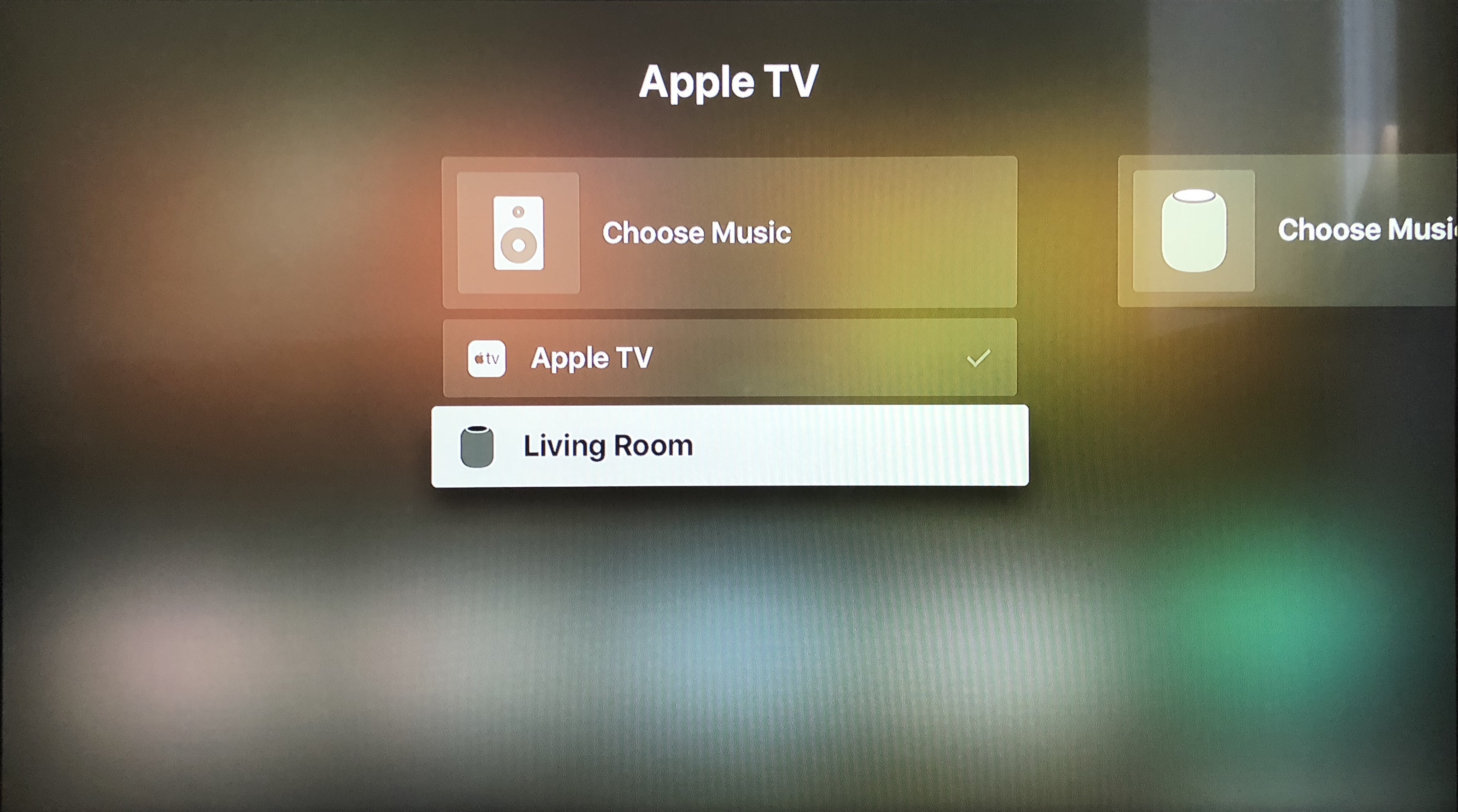 Reproduce el sonido de Apple TV en HomePod