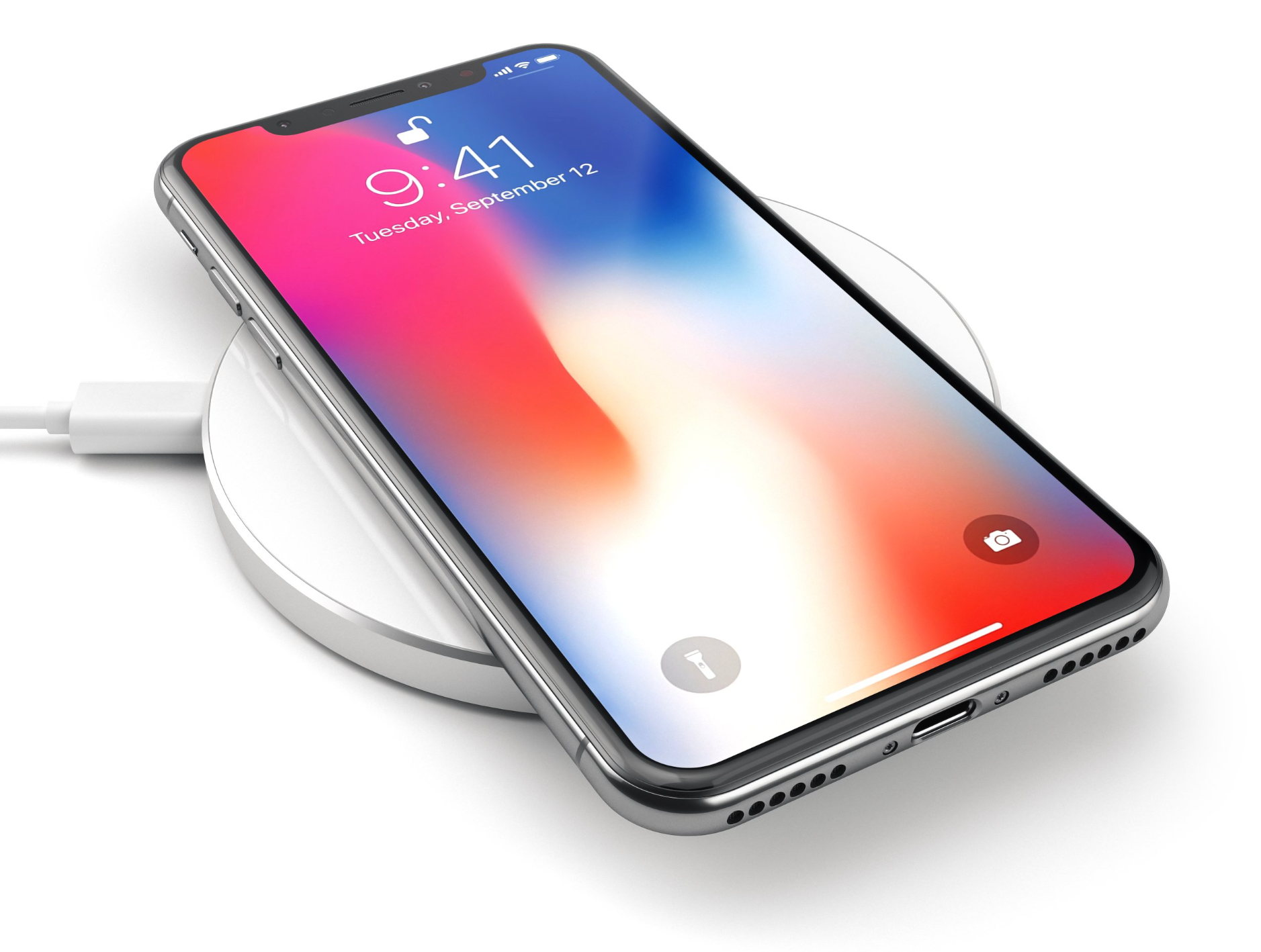 Satechi aluminum wireless qi charger iPhone X