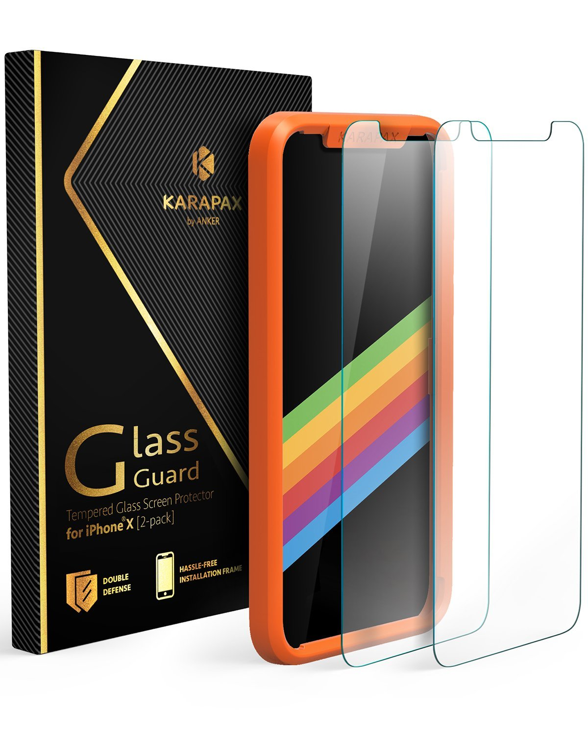 best iPhone X screen protectors - anker karapax tempered glass