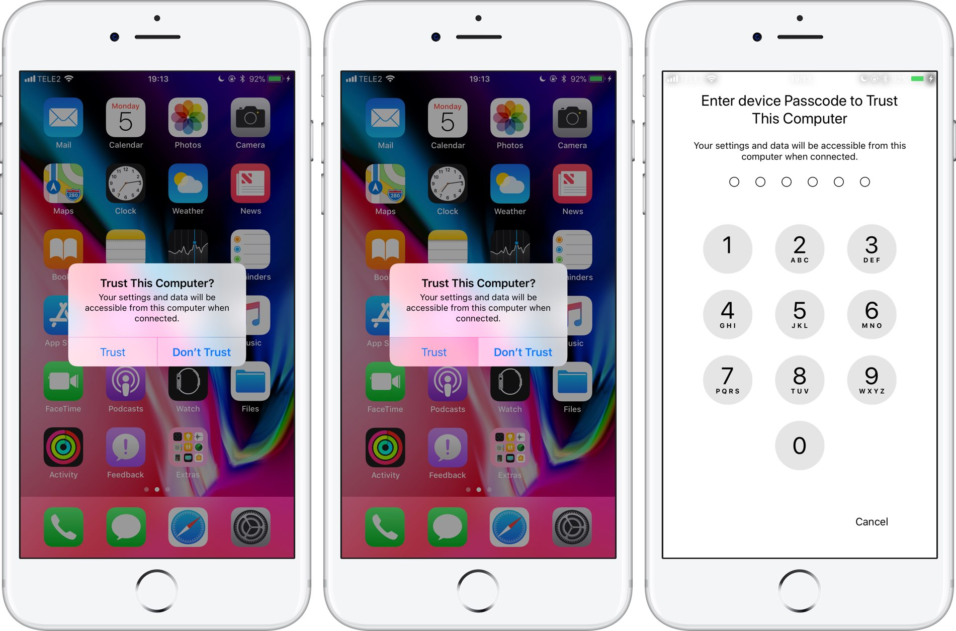 iOS 11's increased pairing security requires passcode for