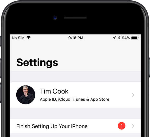 finish setting up your iphone prompt