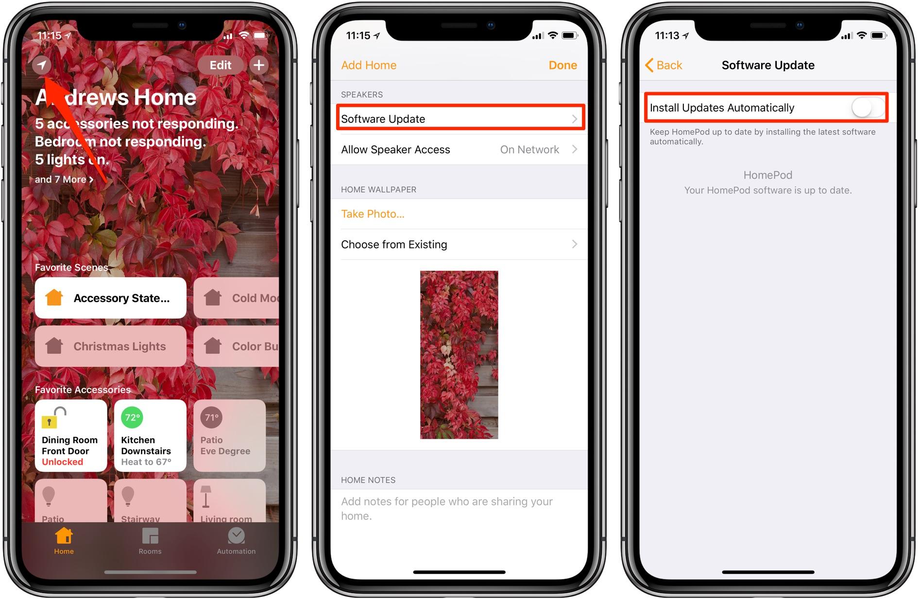 detener las actualizaciones automáticas de HomePod
