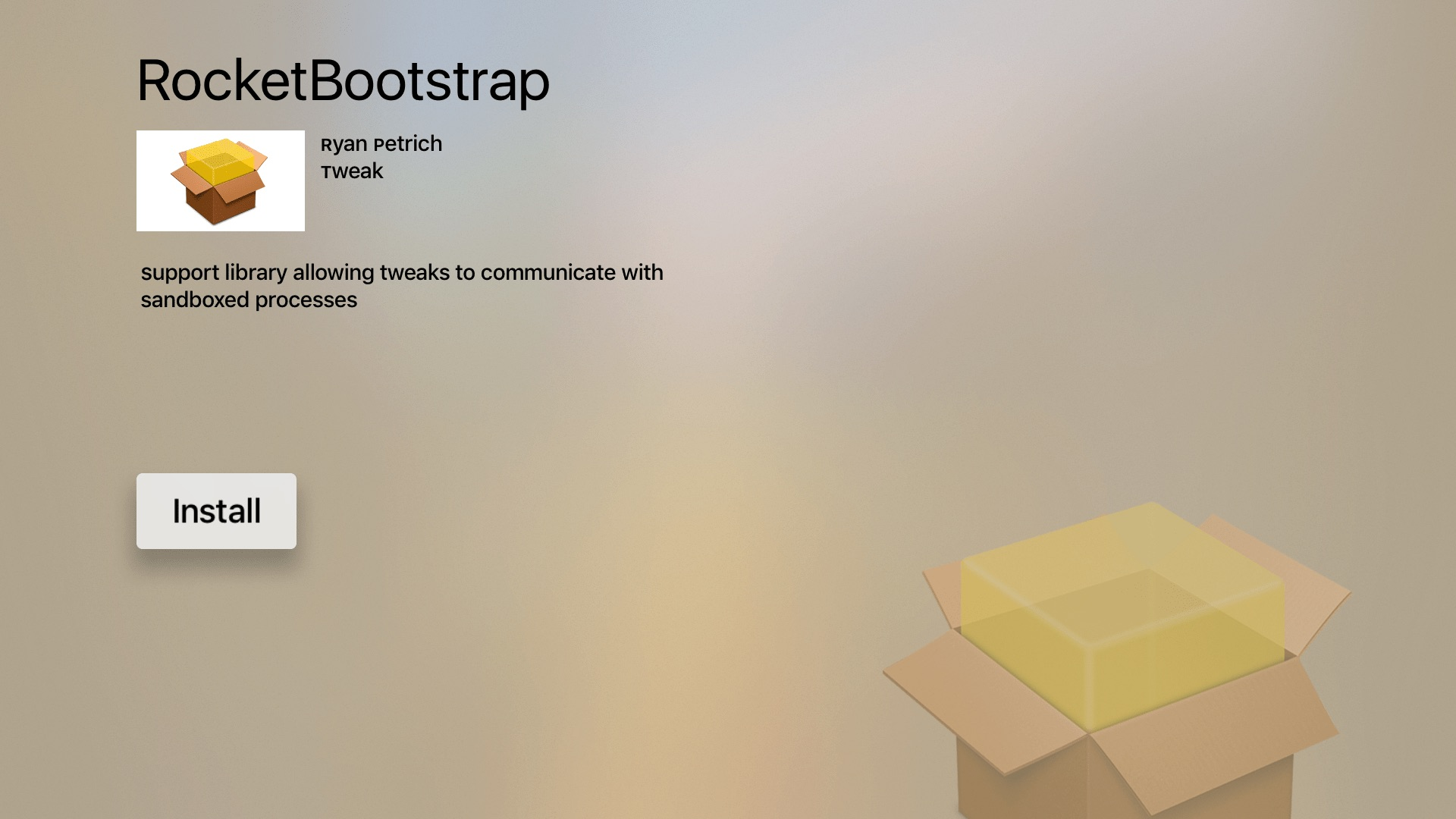 Rocket Bootstrap package view