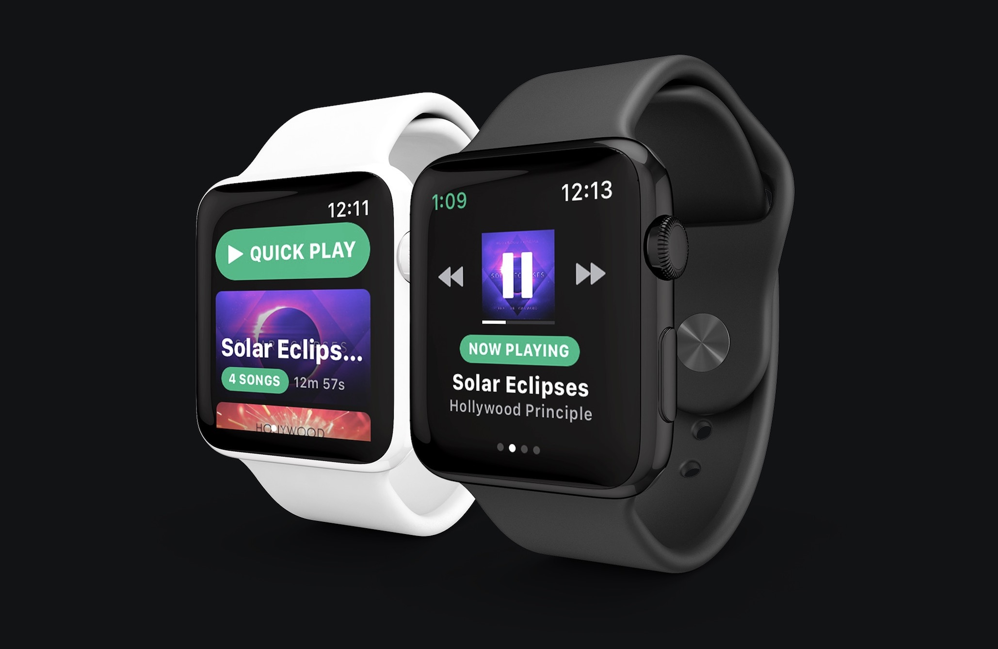 Snowy Spotify para Apple Watch
