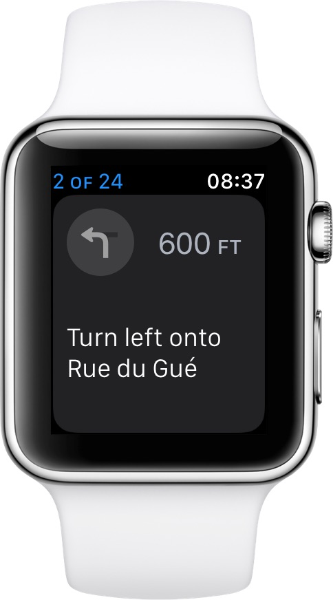 Apple Watch turn directions in Maps app