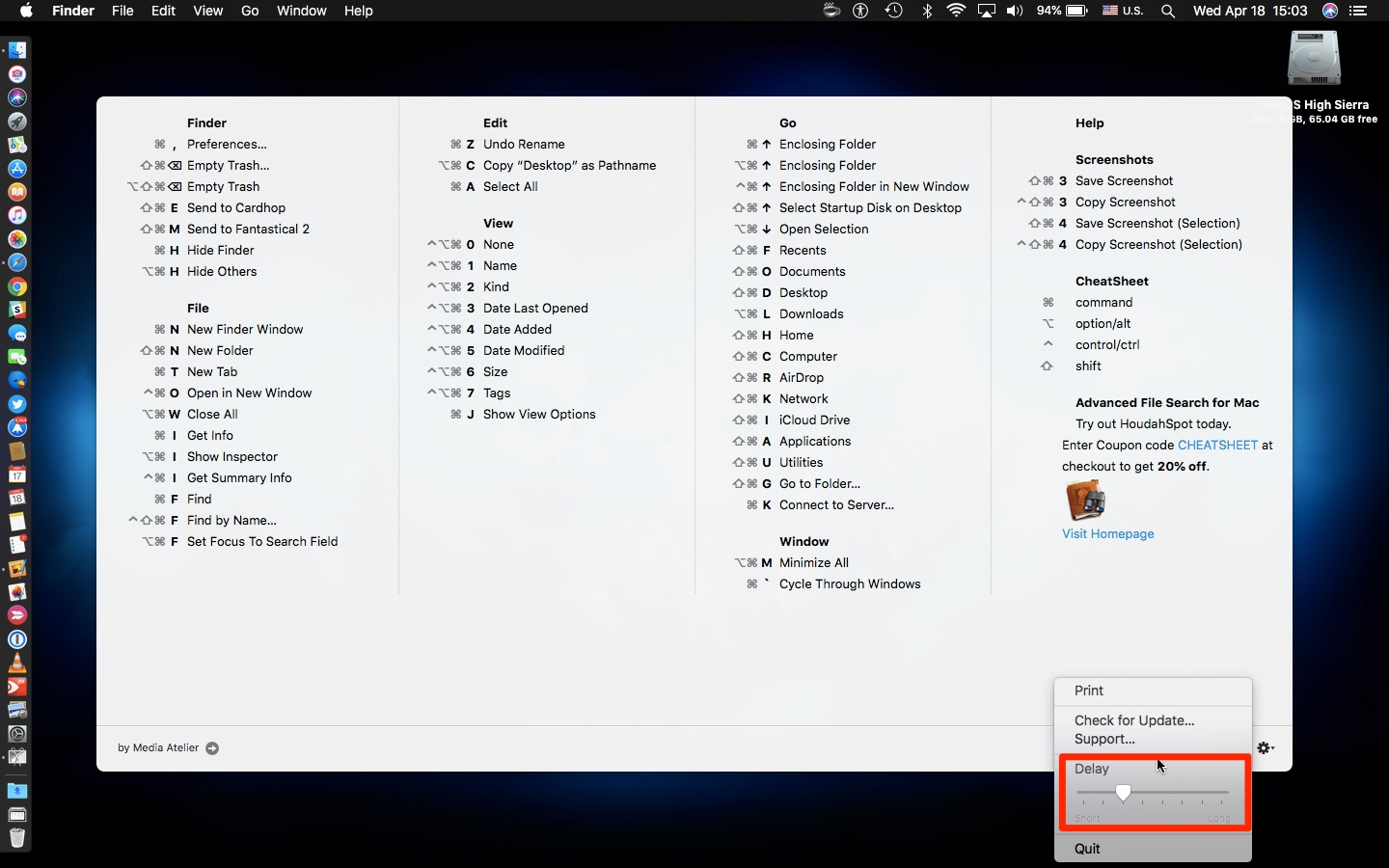 How to view available keyboard shortcuts in every Mac app