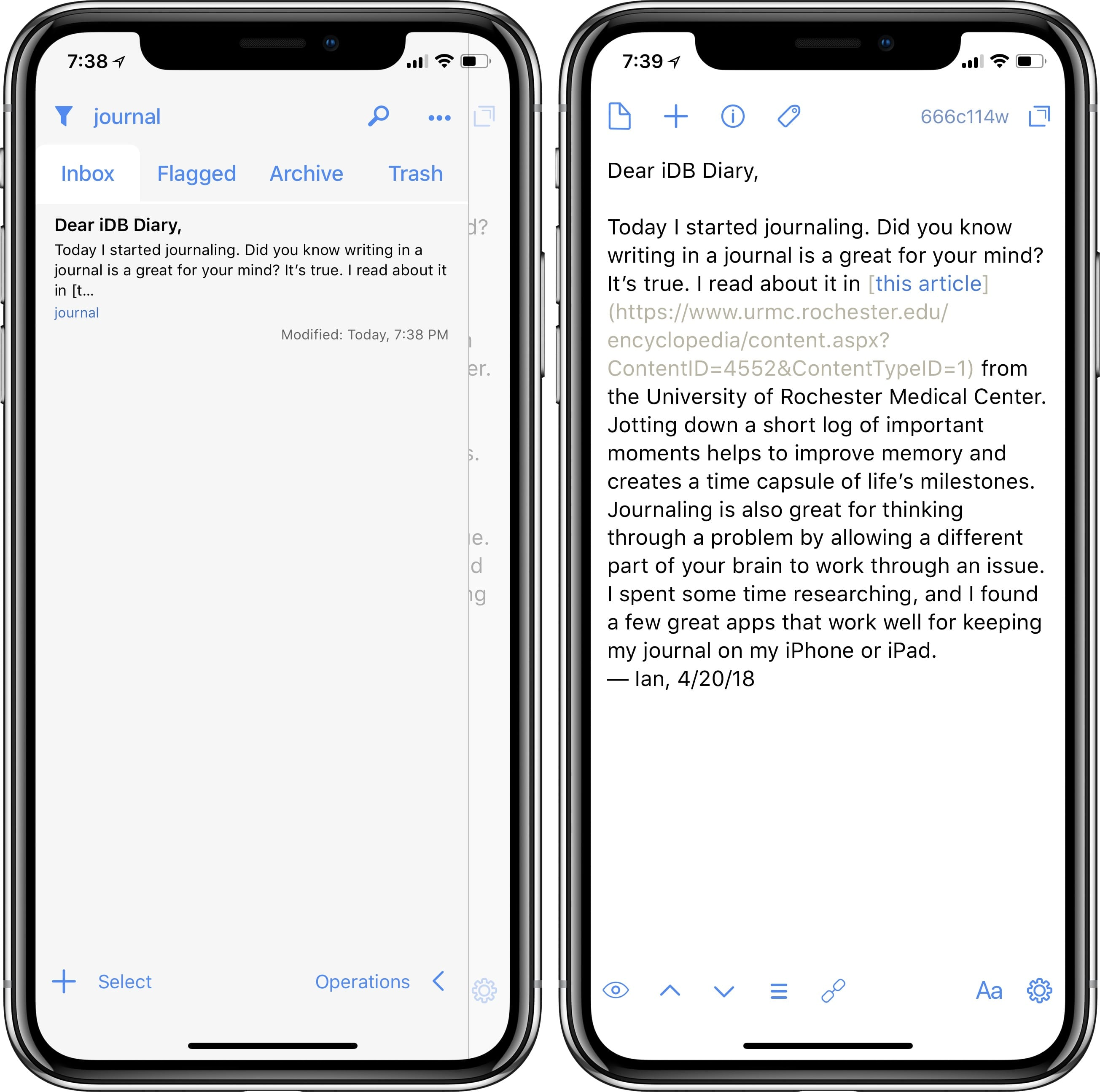 best journaling apps for iphone and ipad - Drafts