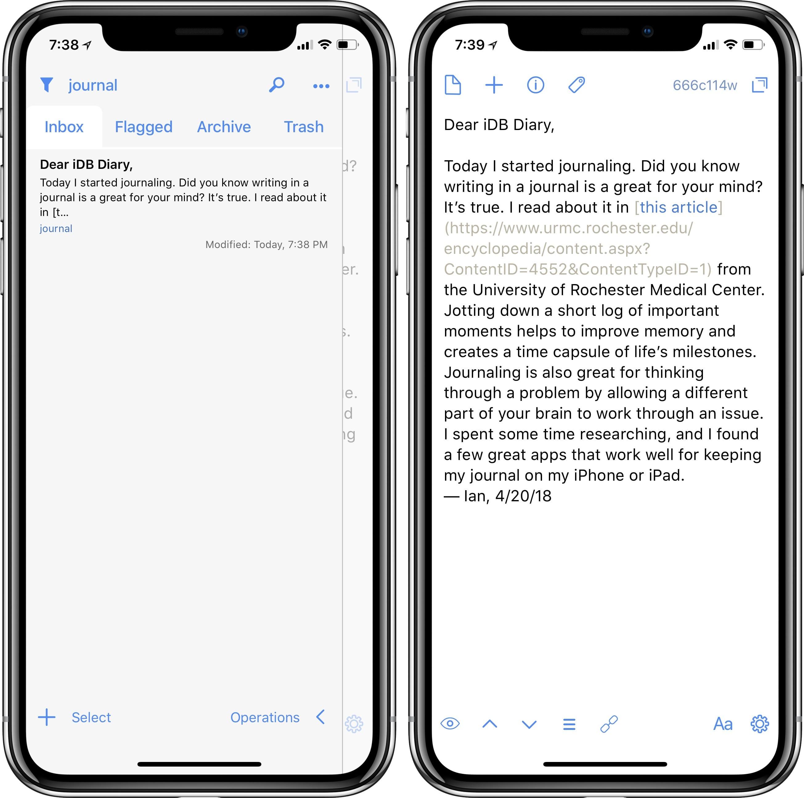 journal app windows