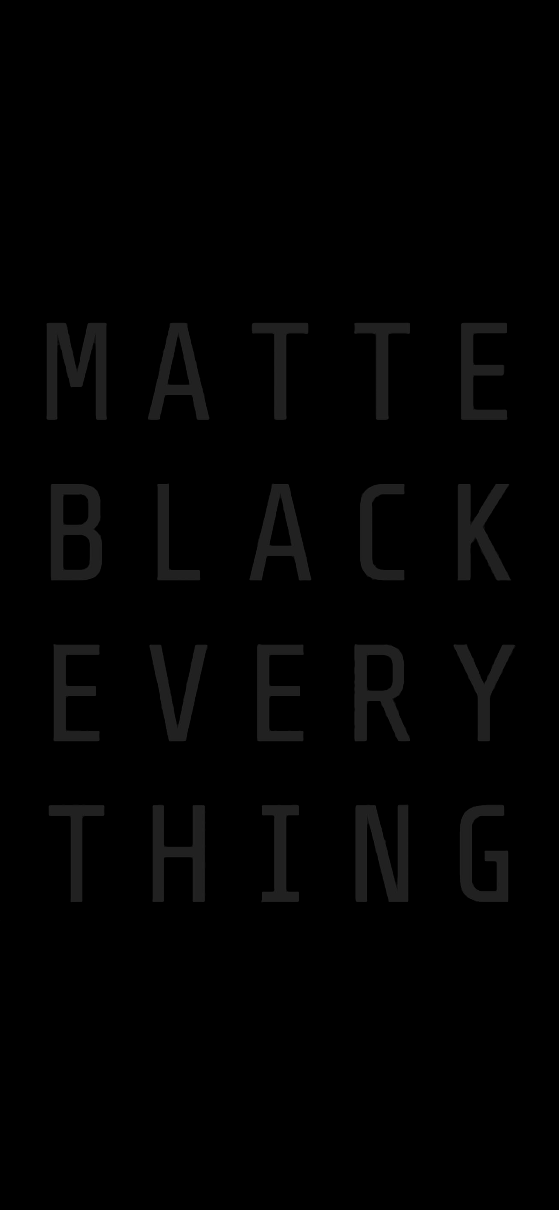 Matte Black Everything MKBHD iPhone X Wallpaper 000000