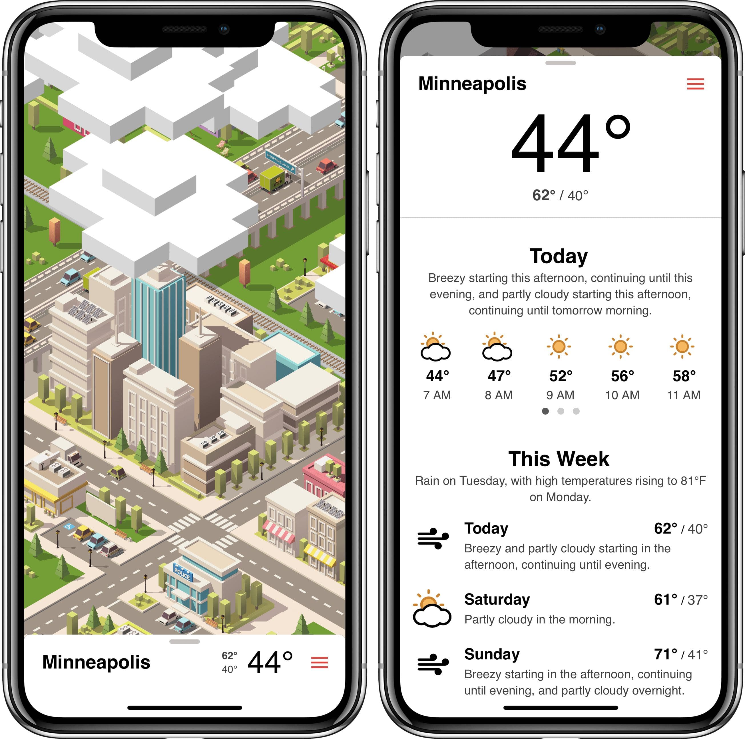 Tinyclouds weather app is beautiful and useful