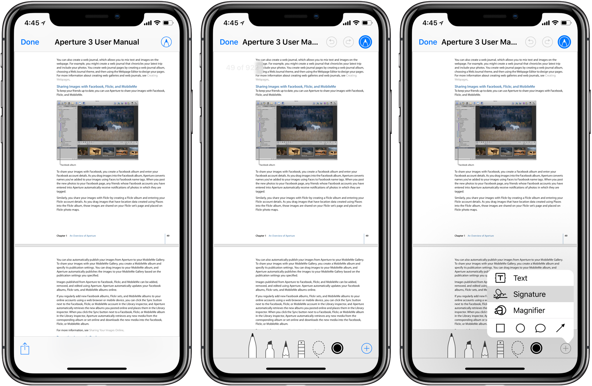 sign pdf documents on iphone