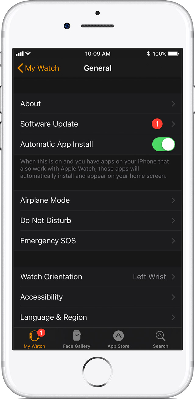 TIP: If your iPhone has already downloaded the latest watchOS update in the background you\u0027ll see a red badge on the Watch app\u0027s icon on your Home screen ...