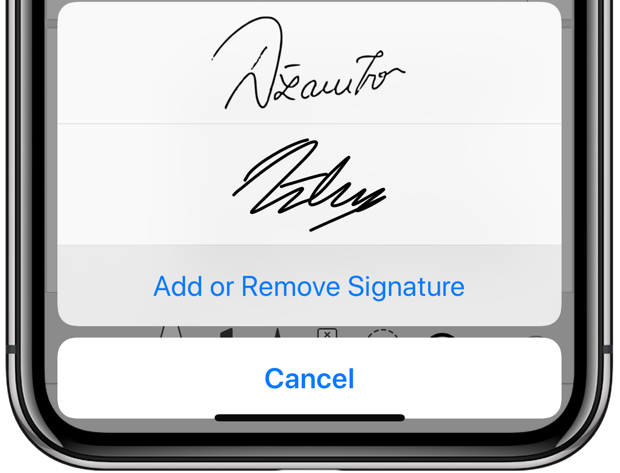add or remove signatures