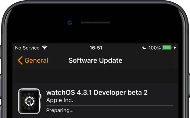 Preparing software update