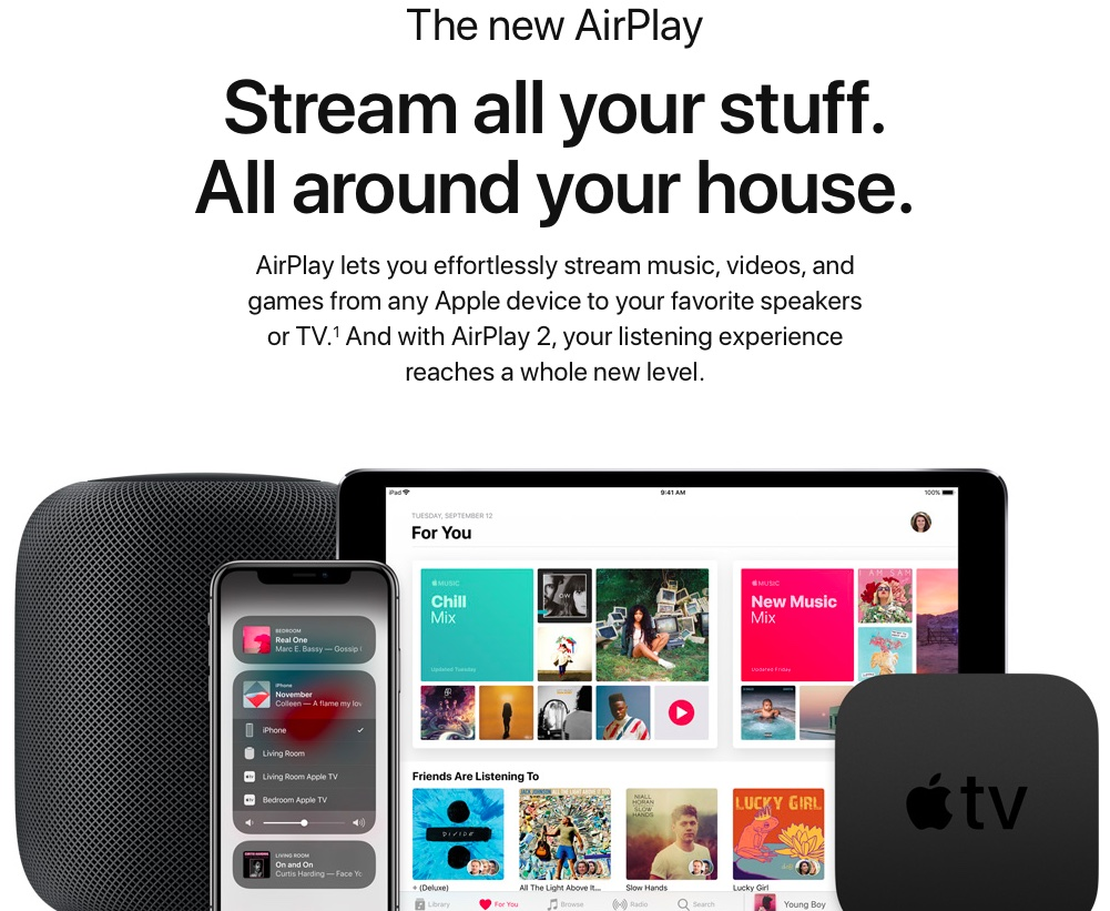 Siri AirPlay 2 commands Apple website
