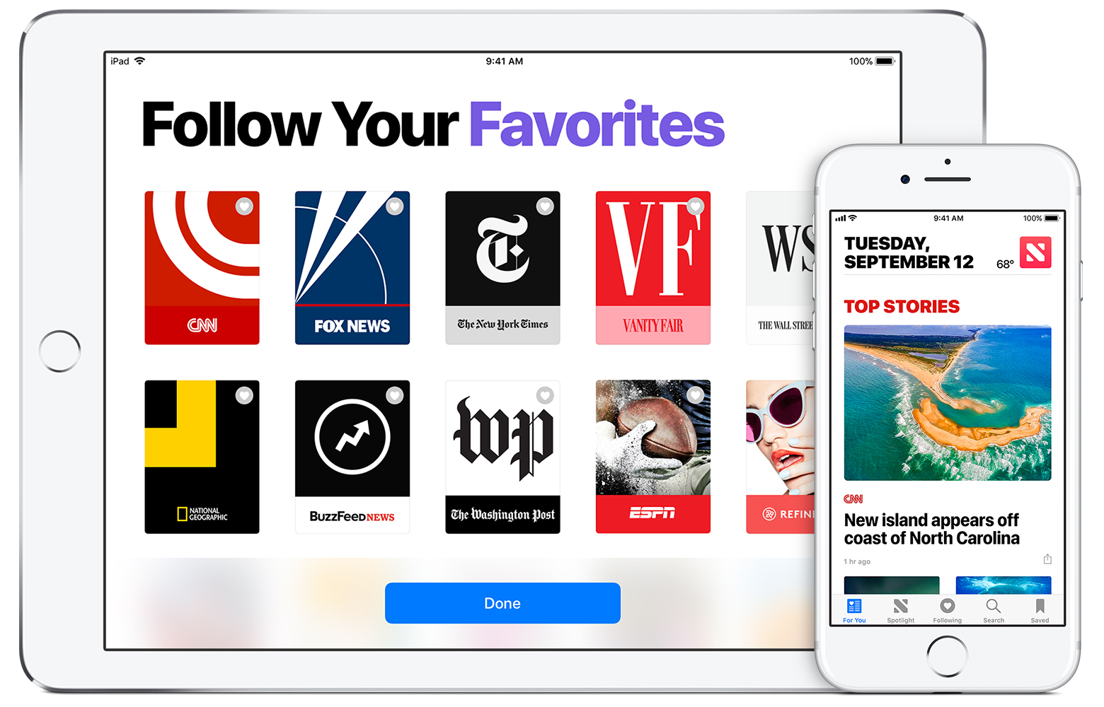 Apple News output from Canvasflow