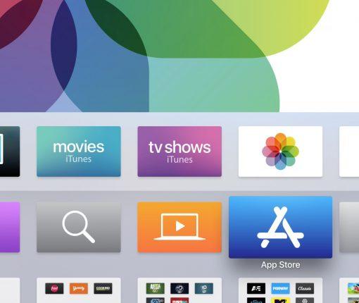Apple TV main screen