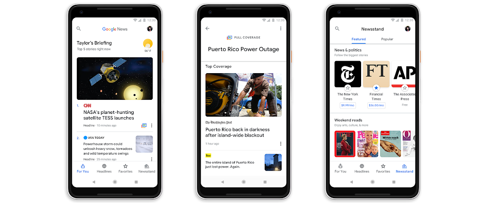 Google News is rolling out overhauled, artificially