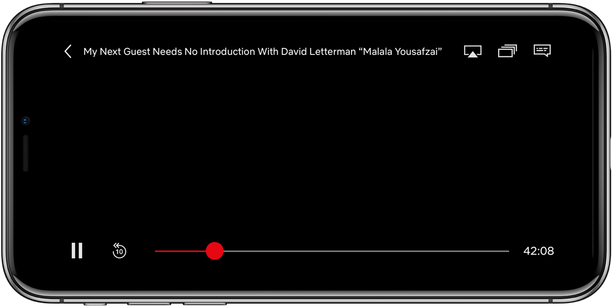 Netflix iPhone unobtrusive volume slider old controls