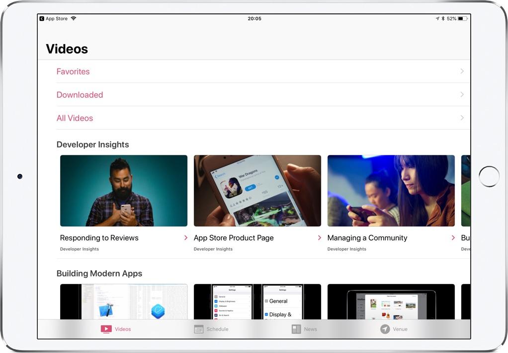 WWDC app update ipad