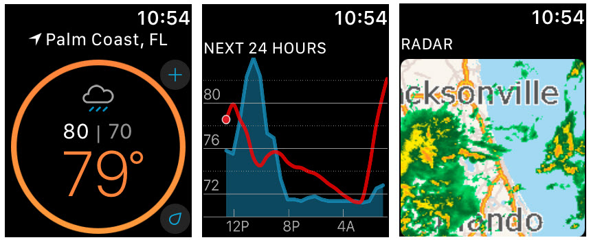 Weather Underground Apple Watch aplicaciones meteorológicas