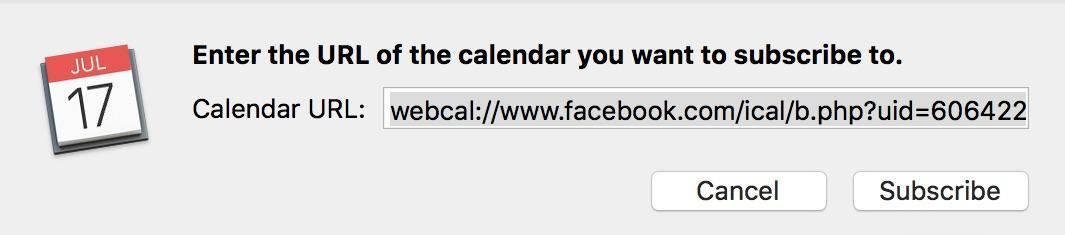 Calendar Subscribe