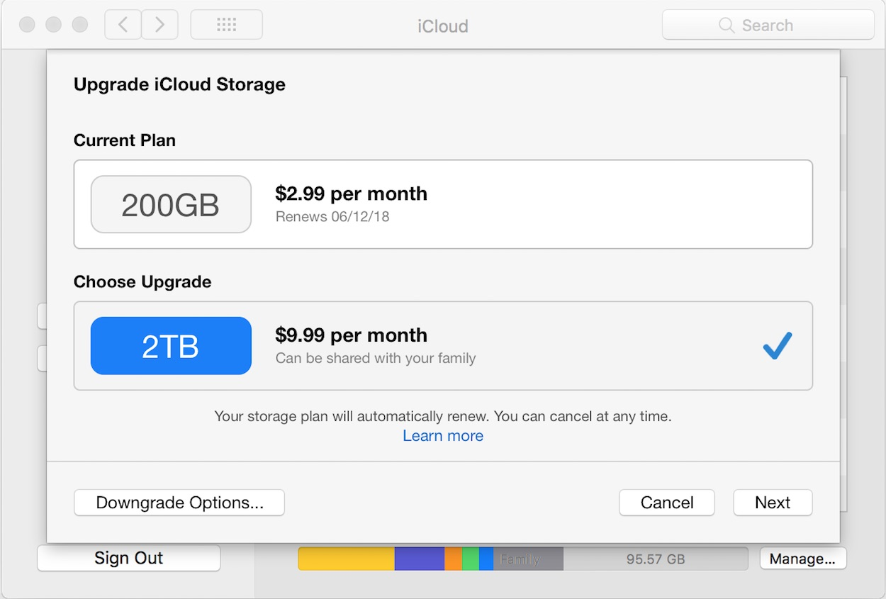 How to upgrade or downgrade your iCloud storage plan