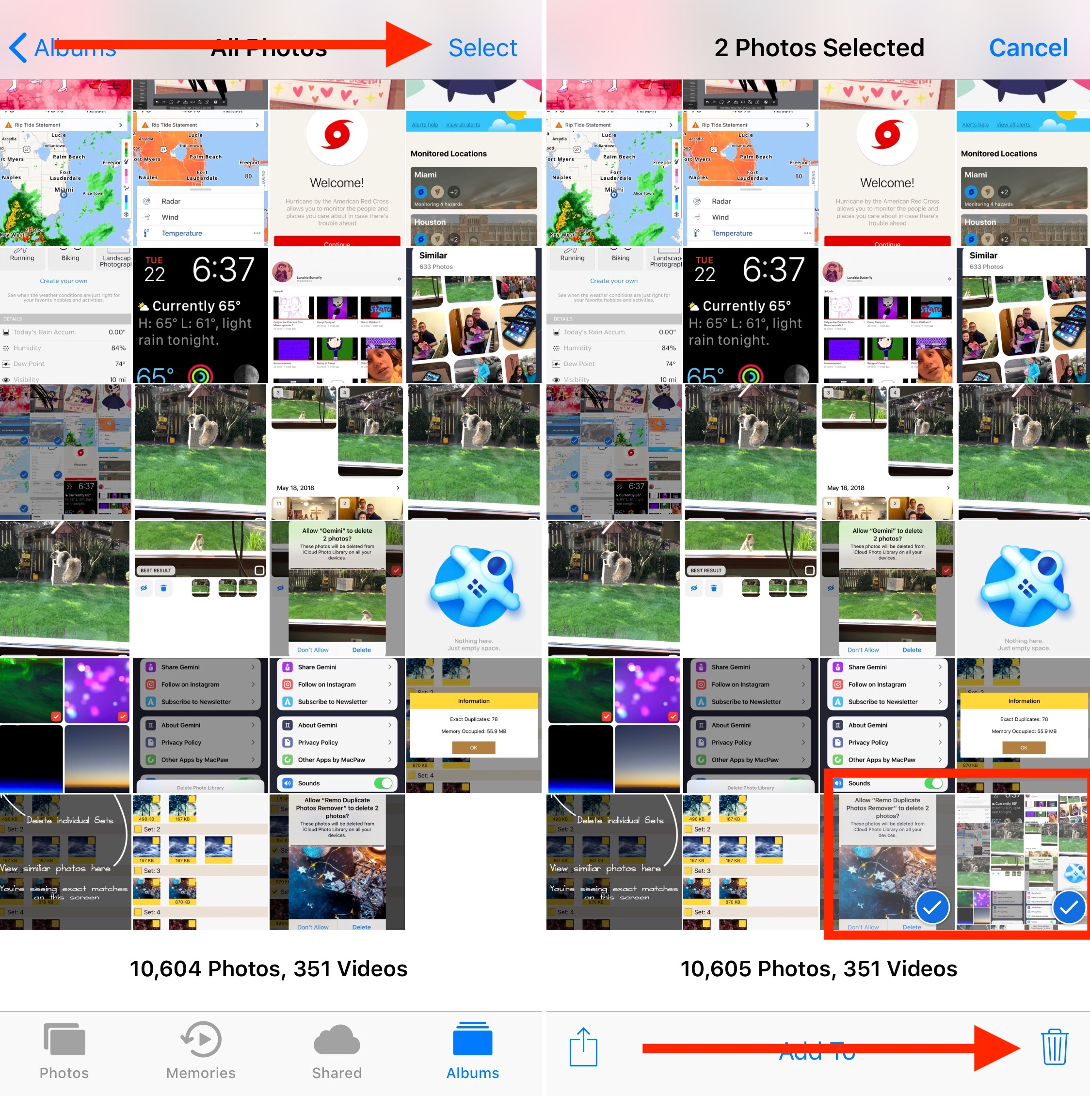 Delete Duplicate Images Manually