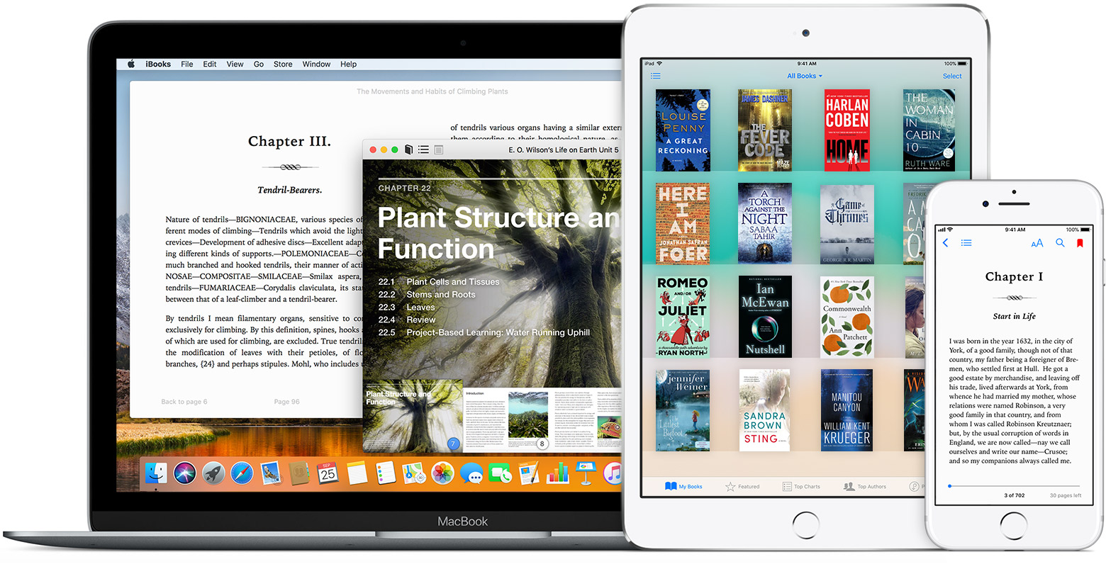 iBooks library location hero image