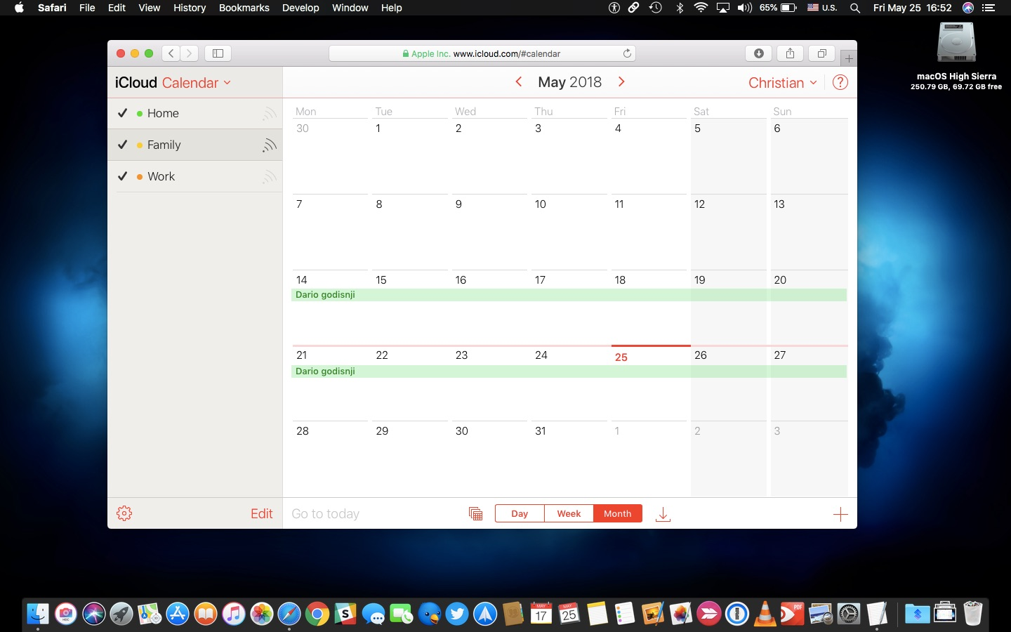 Apple Calendar for Mac