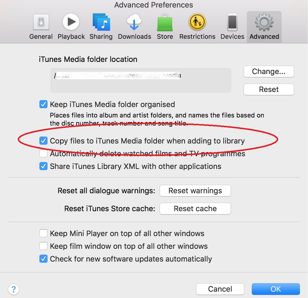 How to look for stored itunes documents on mac computer