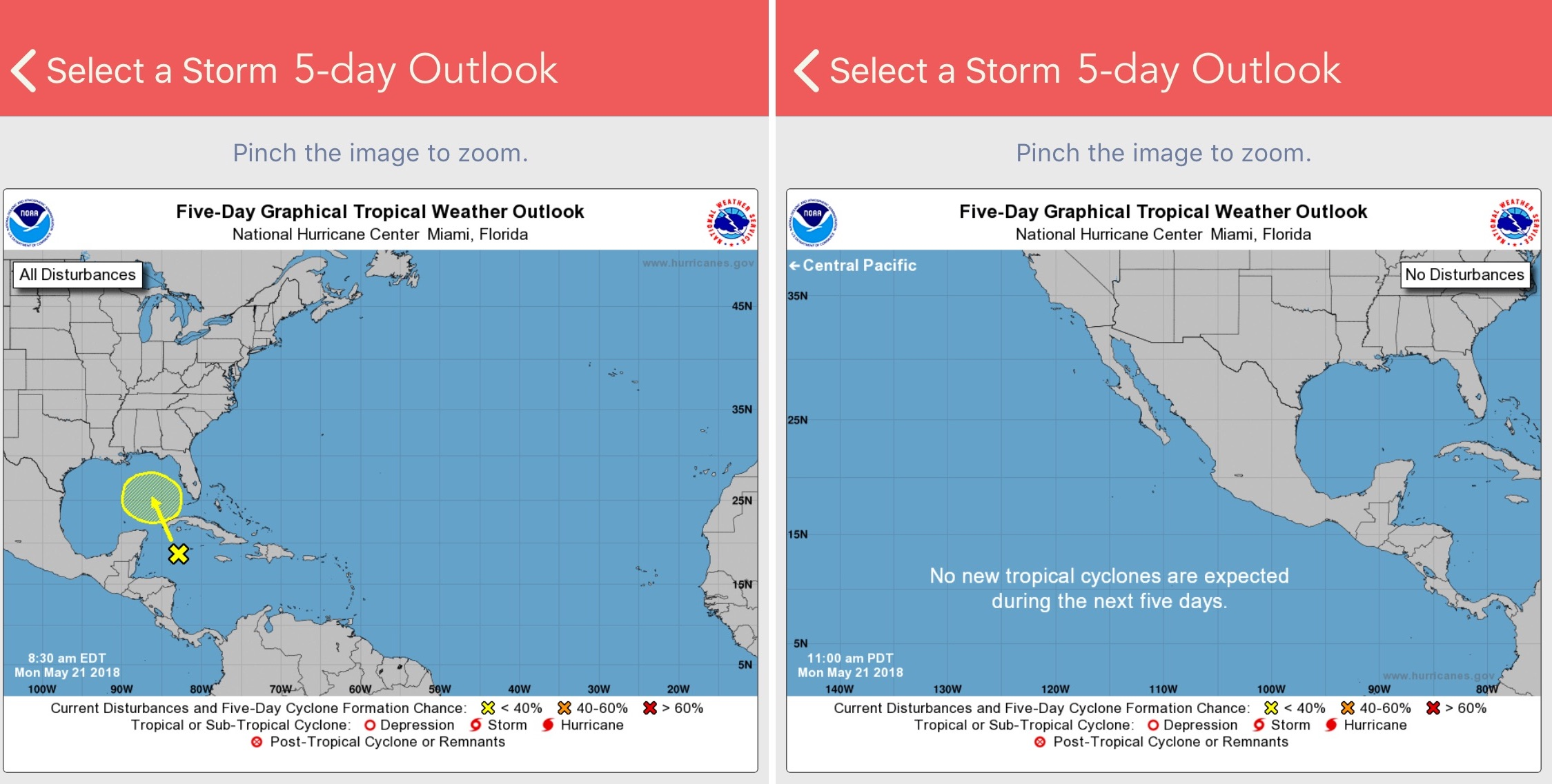 National Hurricane Center Data app