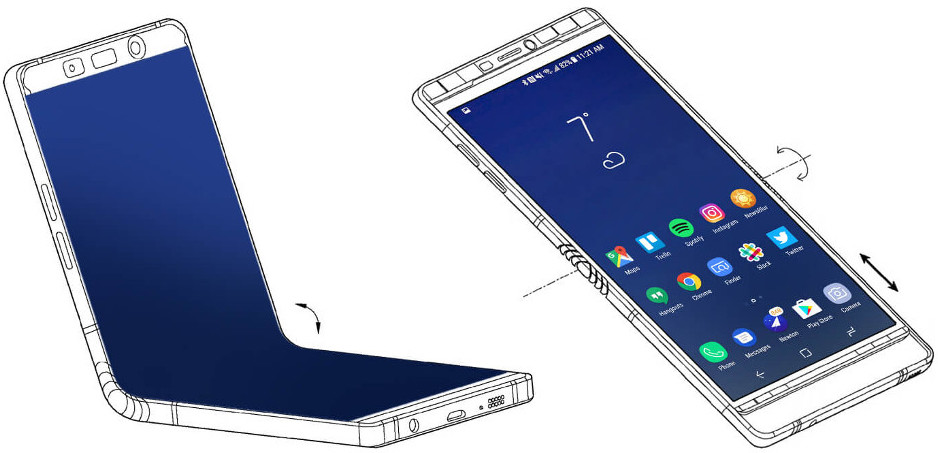 Samsung patent: a foldable smartphone