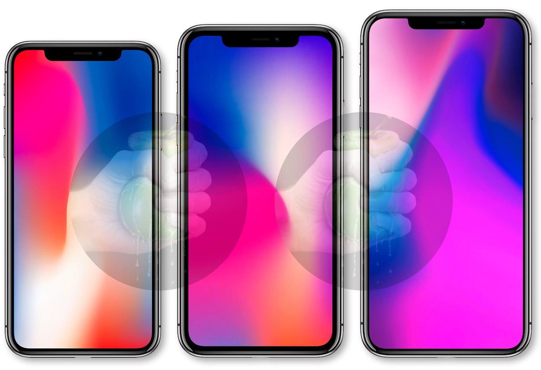 A mockup of 2018 iPhone models