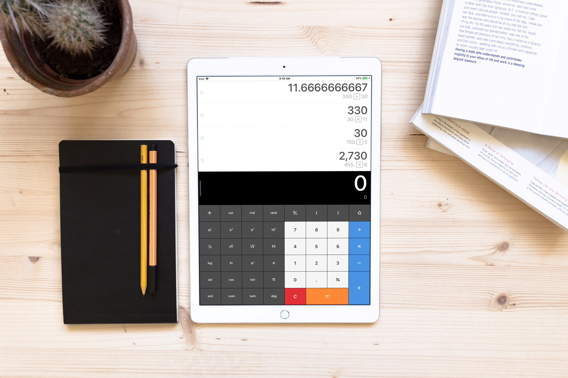 best calculator apps for ipad - Calculator App on iPad Desk