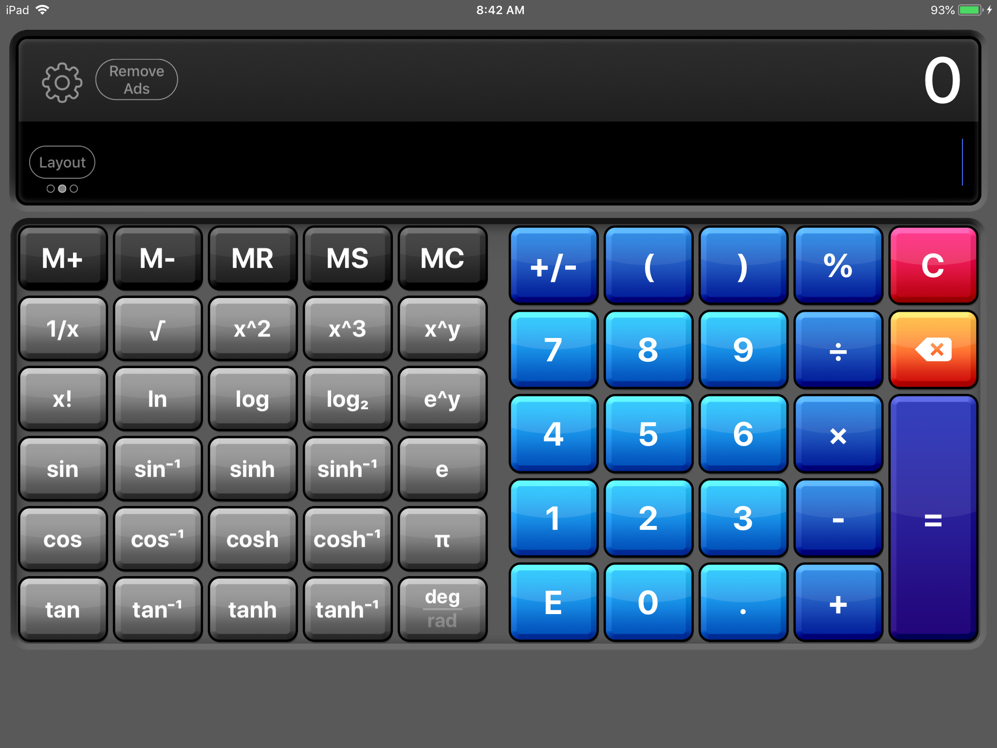 Calculator Lite on iPad