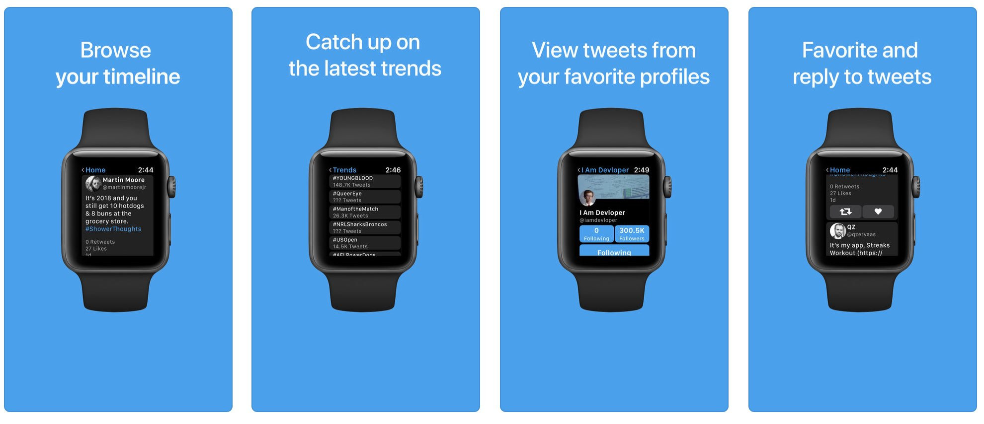 Chrip is a wrist-based Twitter client for your Apple Watch