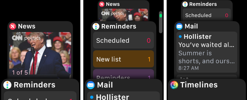 News Reminders Mail Apple Watch