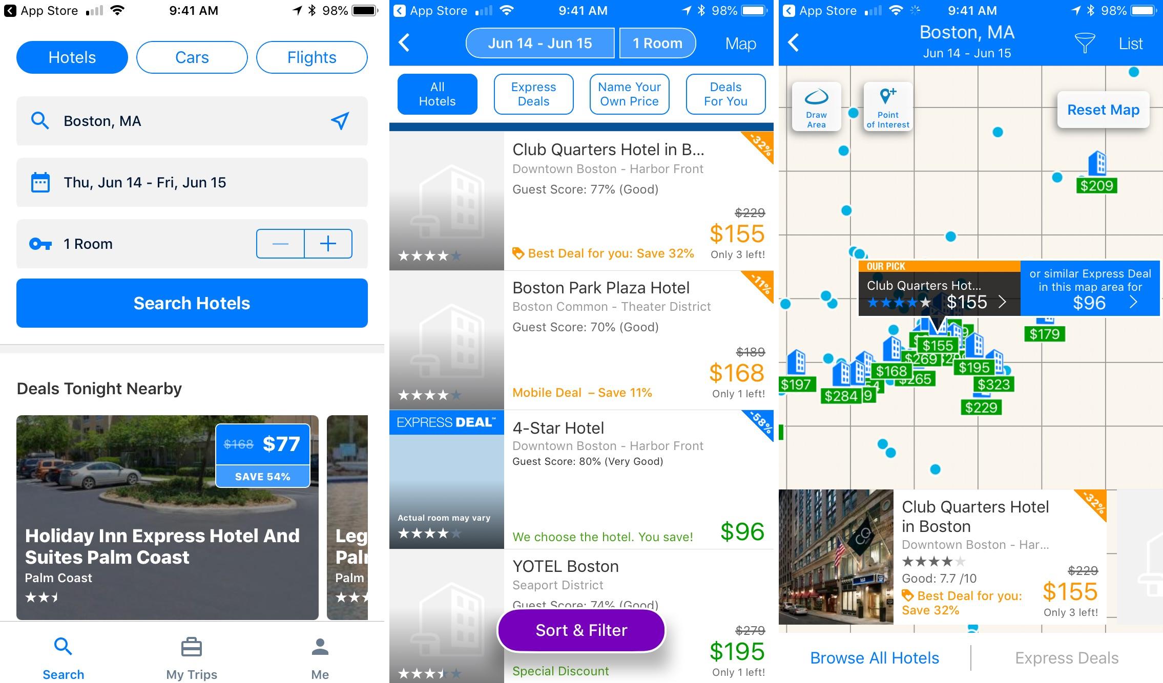 Priceline travel app iphone