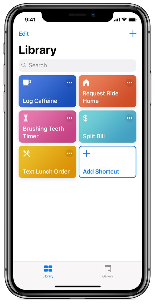 Siri Shortcuts app screenshot