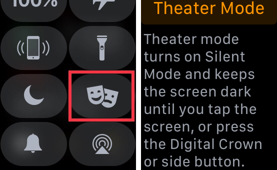 Turn On Apple Watch Theater Mode
