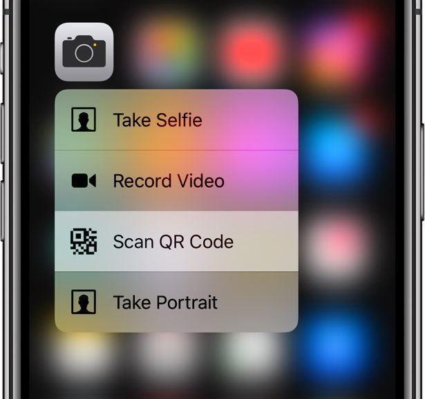 "The new ""Scan QR Code"" 3D Touch shortcut for the Camera app also launches the QR code scanner even if the feature has been disabled in Settings"