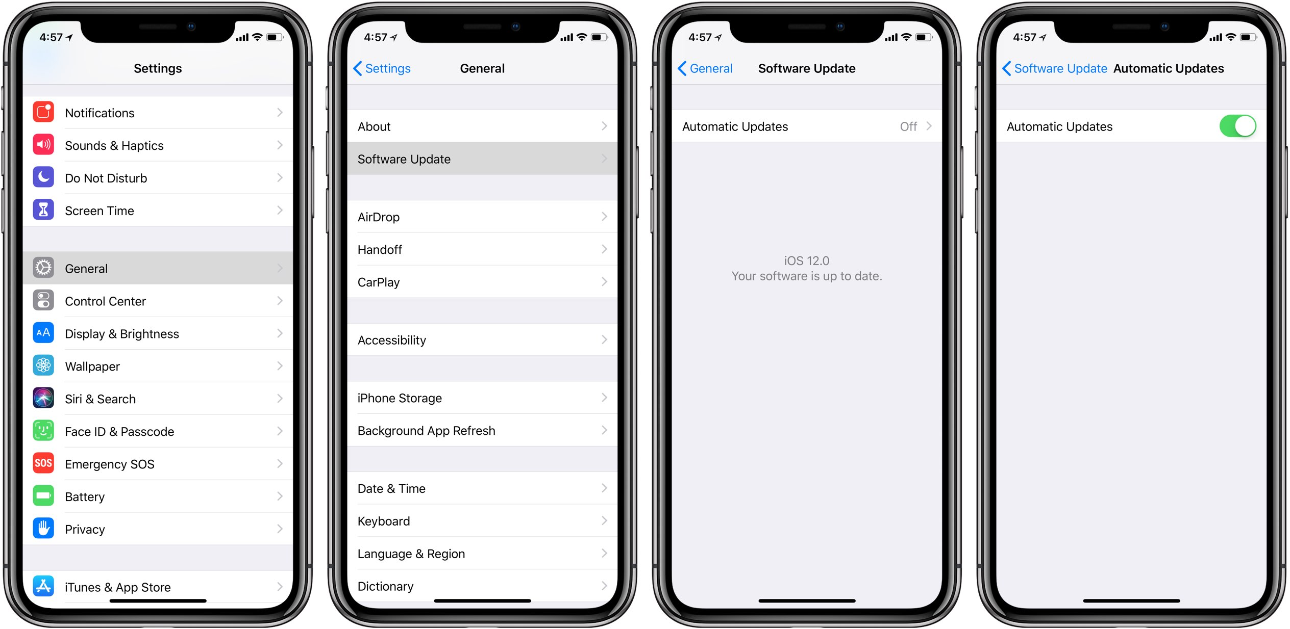 iphone app auto update how to enable automatic updates for ios releases on iphone 1426
