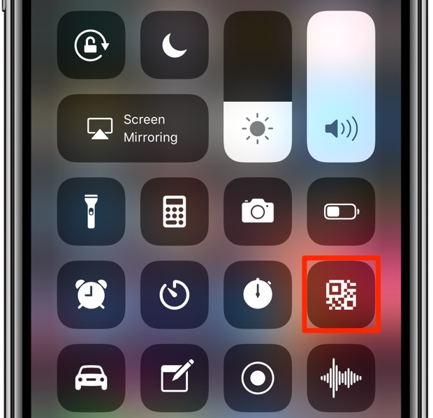 iOS 12 includes a brand new QR Code scan shortcut in Control Center