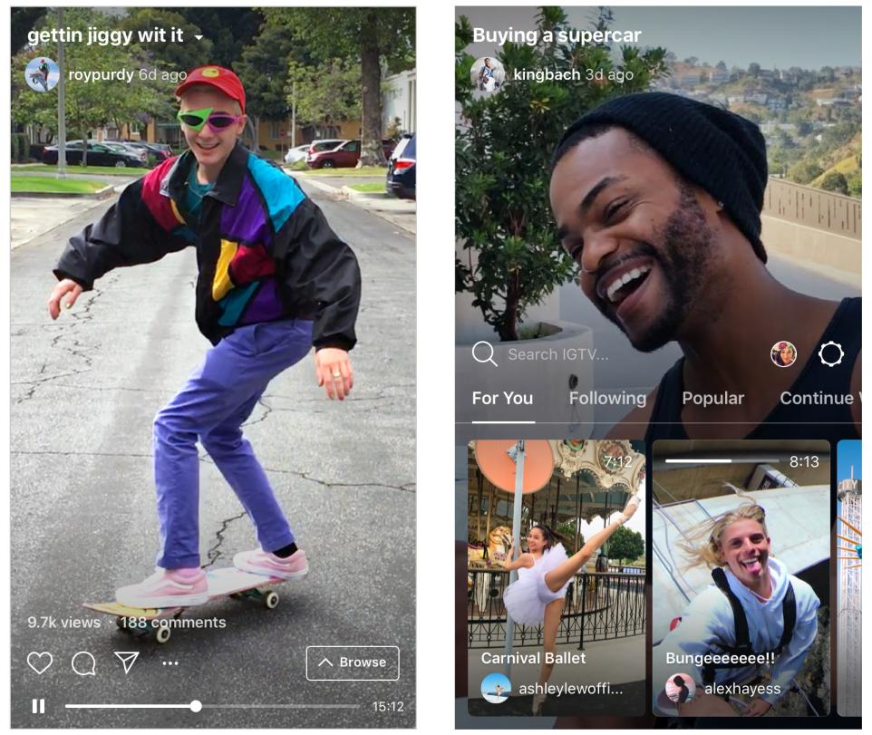 Instagram TV, o IGTV, es una aplicación dedicada para contenido de video de larga duración de tus creadores favoritos de Instagram